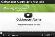 OpManager Alarms gets new look