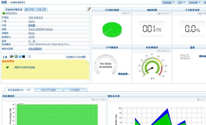 卓豪OpManager全新版本V12是在5大网管产品的基础上,整合而成的一体化网络管理软件,提供网络性能监控、物理和虚拟服务器监控、网络流量分析、设备配置管理、IP地址与交换机端口管理、防火墙日志分析等功能,满足企业IT基础架构的智能统一管理。
