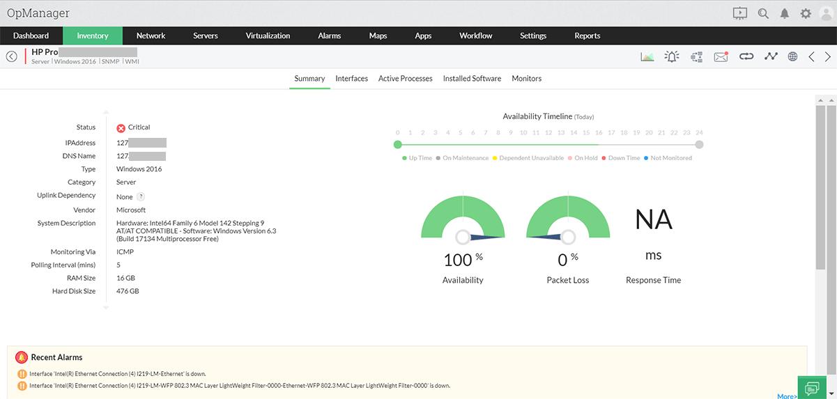 服务器管理工具 - ManageEngine OpManager