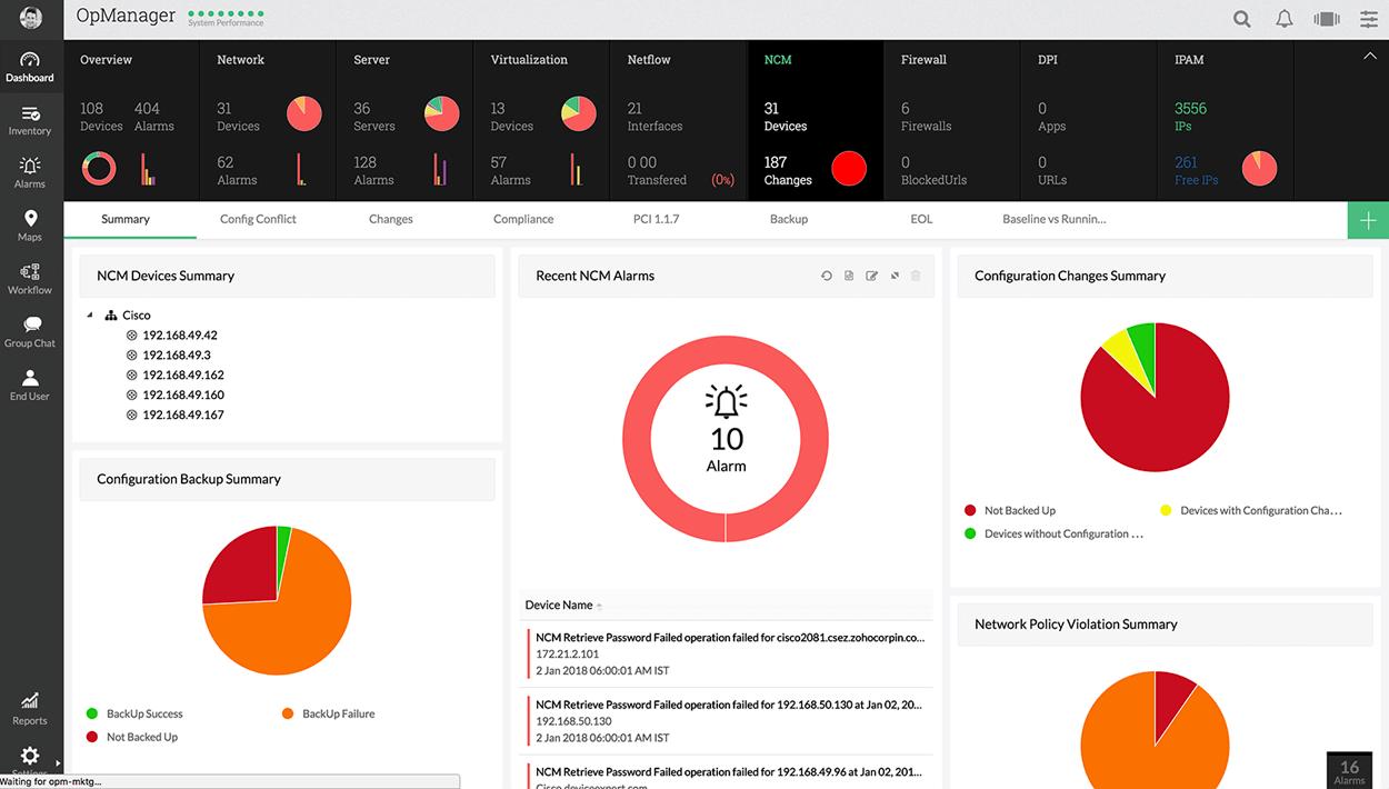 网络管理软件有哪些 -ManageEngine OpManager