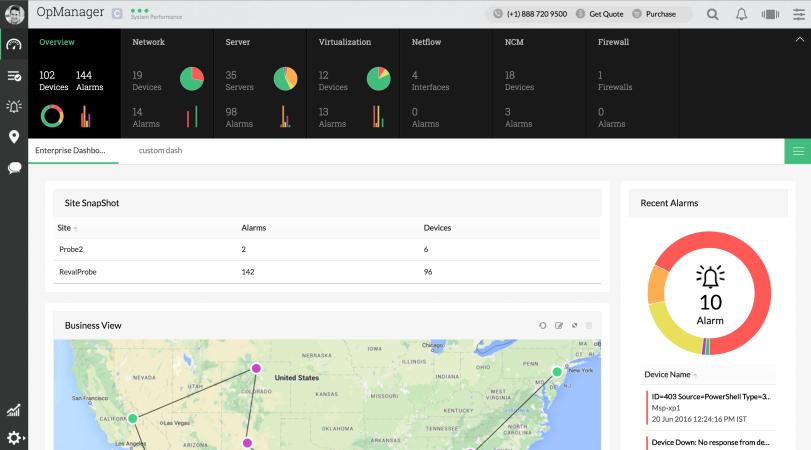 企业网络管理系统 - ManageEngine OpManager
