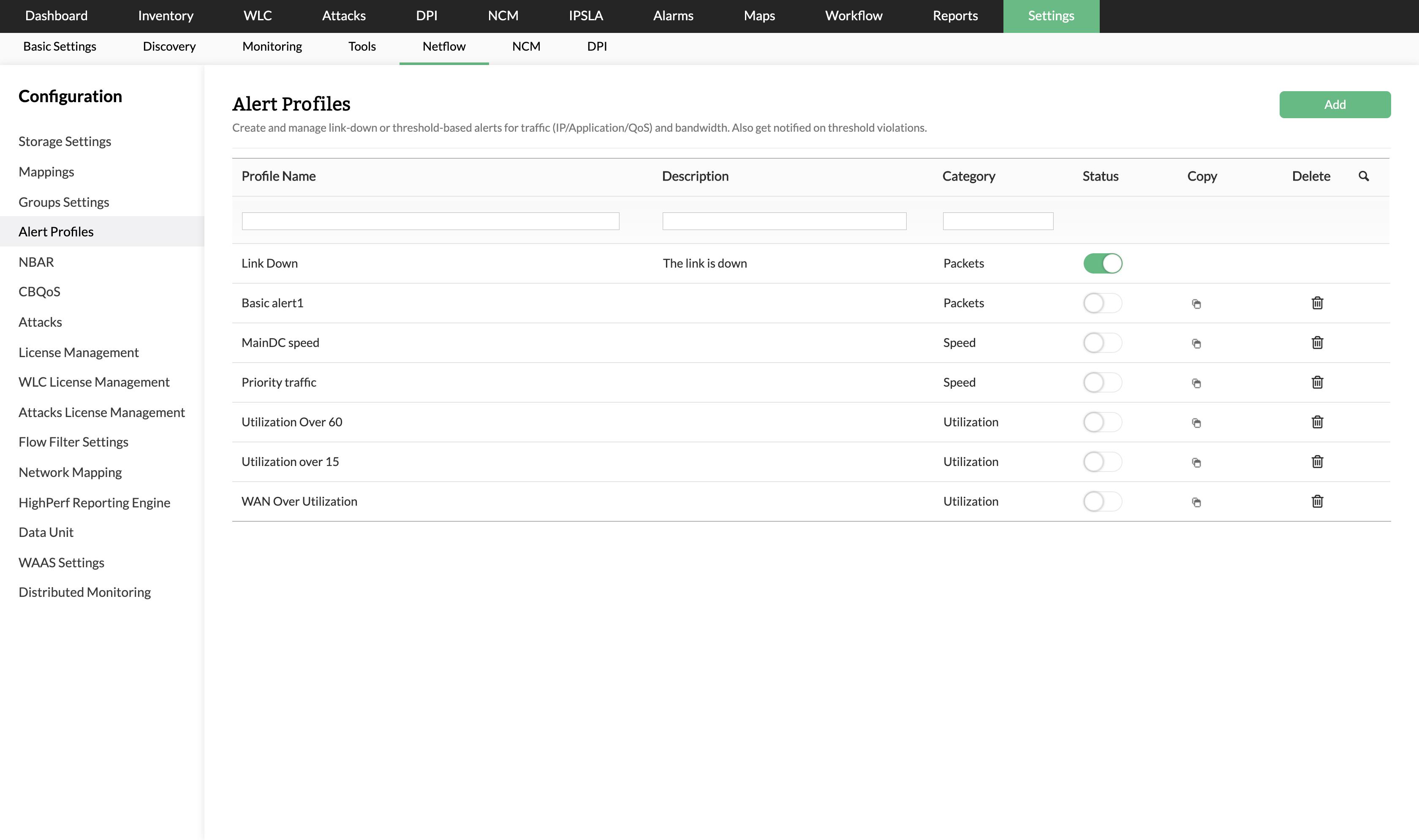 带宽利用率监测 - ManageEngine NetFlow Analyzer